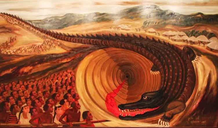 Buaya Dan Keegoisan Manusia Dalam Seni Lukis Brikolase